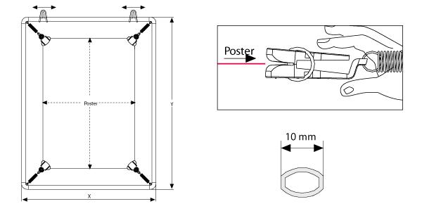 1 st ck spannrahmen plakatrahmen bilderrahmen din a0 ebay. Black Bedroom Furniture Sets. Home Design Ideas