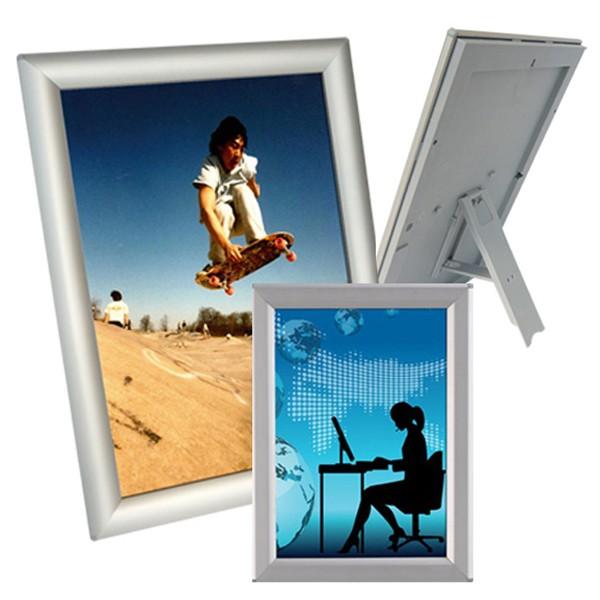 alu klapprahmen optiframe mit eckprofil plakatrahmen bilderrahmen ebay. Black Bedroom Furniture Sets. Home Design Ideas