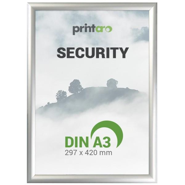 1 x DIN A4  Alu Sicherheits-Klapprahmen Security-Rahmen