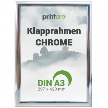 Alu-Klapprahmen in Chrome | DIN A3